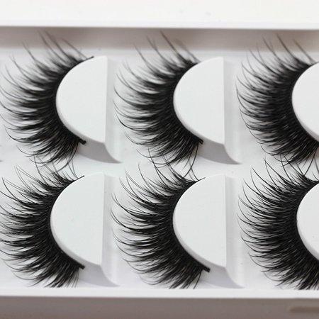 5 Pairs Thick False Fake Eyelashes Eye Lashes Makeup (Eyelashes Makeup)