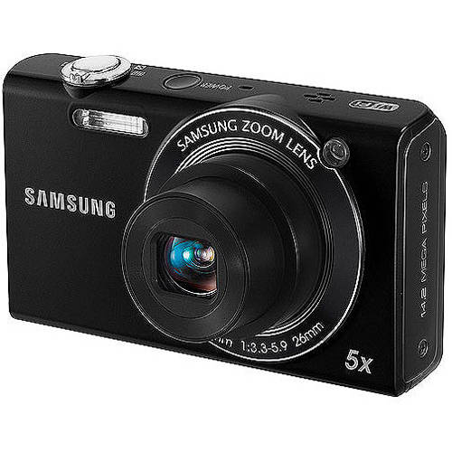 samsung ec-sh100 wi-fi digital camera with 14 mp, 5x optical zoom and touchscreen (black)
