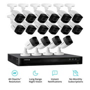 Defender 4k Ultra Wired Security Camera System. Indoor & Outdoor Security Cameras Night Vision Mobile Viewing Motion Detection for Home and Business (16 Cameras)