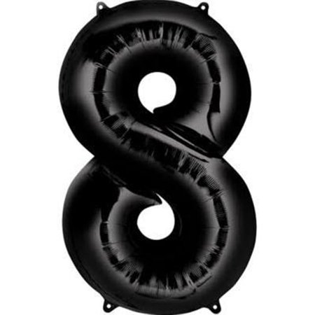 Giant Black Number 8 Foil Balloon 34