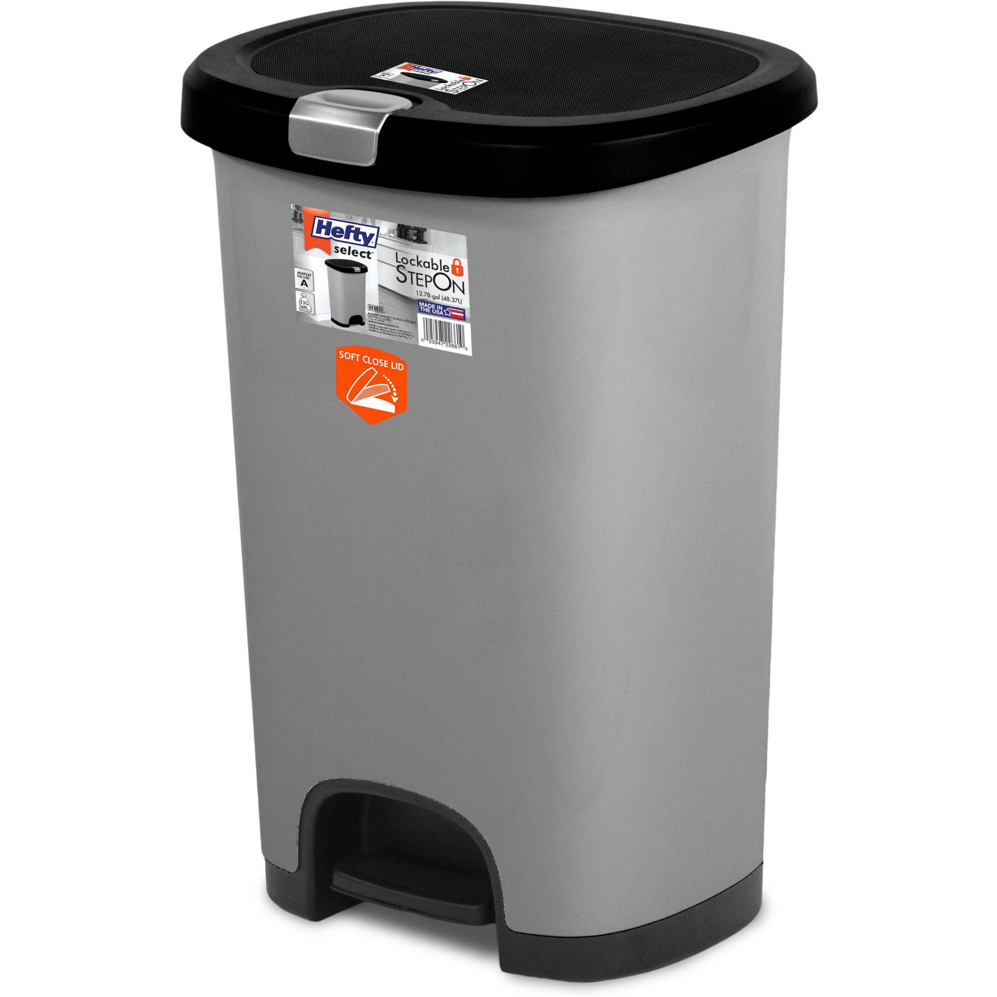 step on trash can kid safe lockable soft close lid 711668564680 ebay. Black Bedroom Furniture Sets. Home Design Ideas