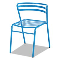 Safco CoGo Steel Outdoor/Indoor Stack Chair, Blue, 2/Carton