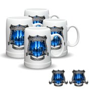 Police Department PD We Will Never Forget Stein Mug/Decal Set