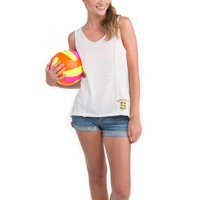 Syracuse Orange Let Loose by RNL Women's Crystal Cove Tank Top - White