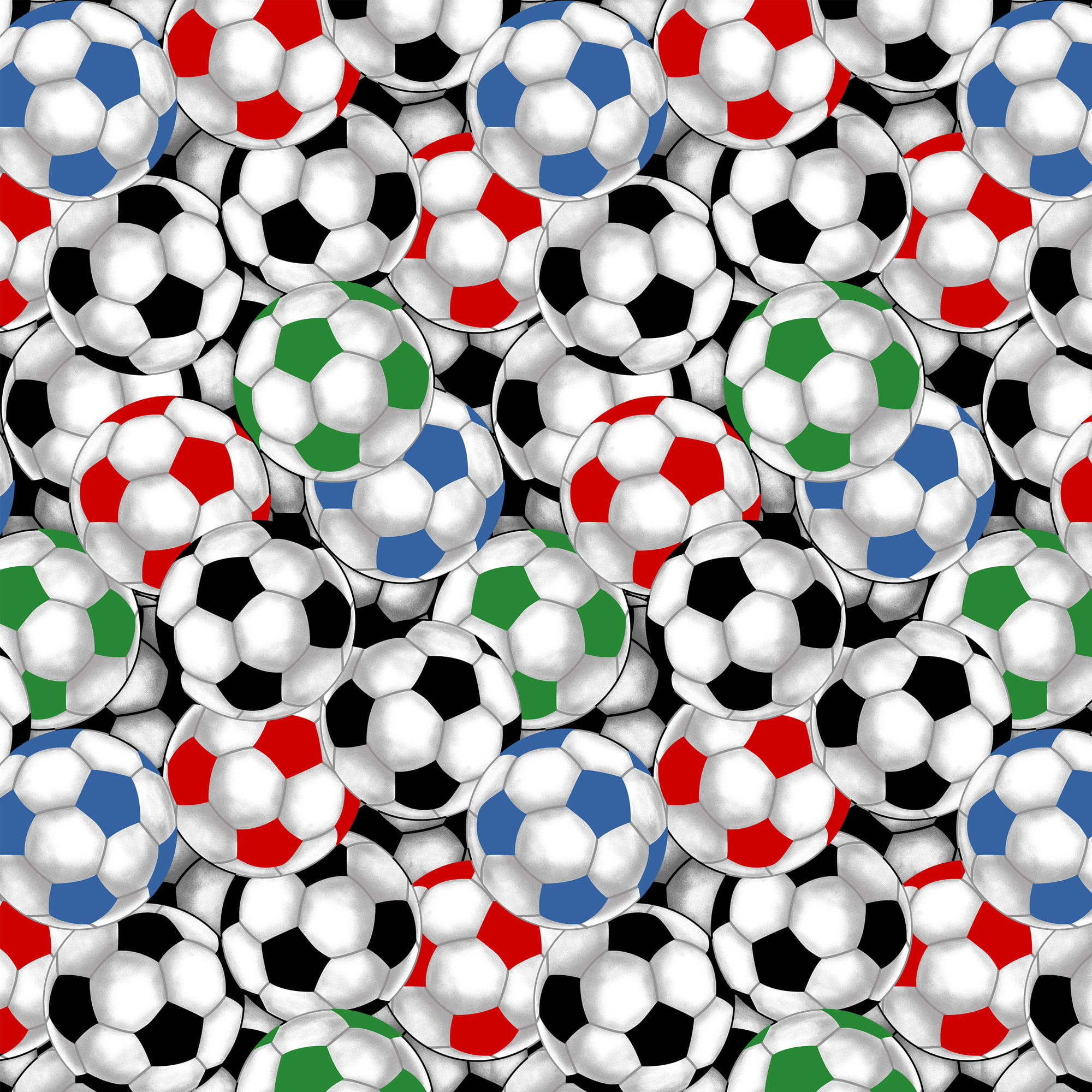 "Packed Soccer Balls Quilting Cotton Fabric By The Yard, 44"" by David Textiles, Inc."