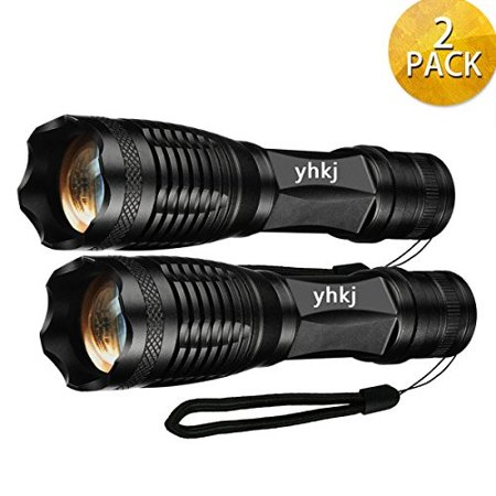 2000 Lumen Handheld Flashlight , Best Portable Tac light,Ultra Bright Outdoor Waterproof 18650 Torch , 5 Modes Zoomable -Suitable for Outdoor Sports Camping Emergency(2pc (Torchlight 2 Best Items)
