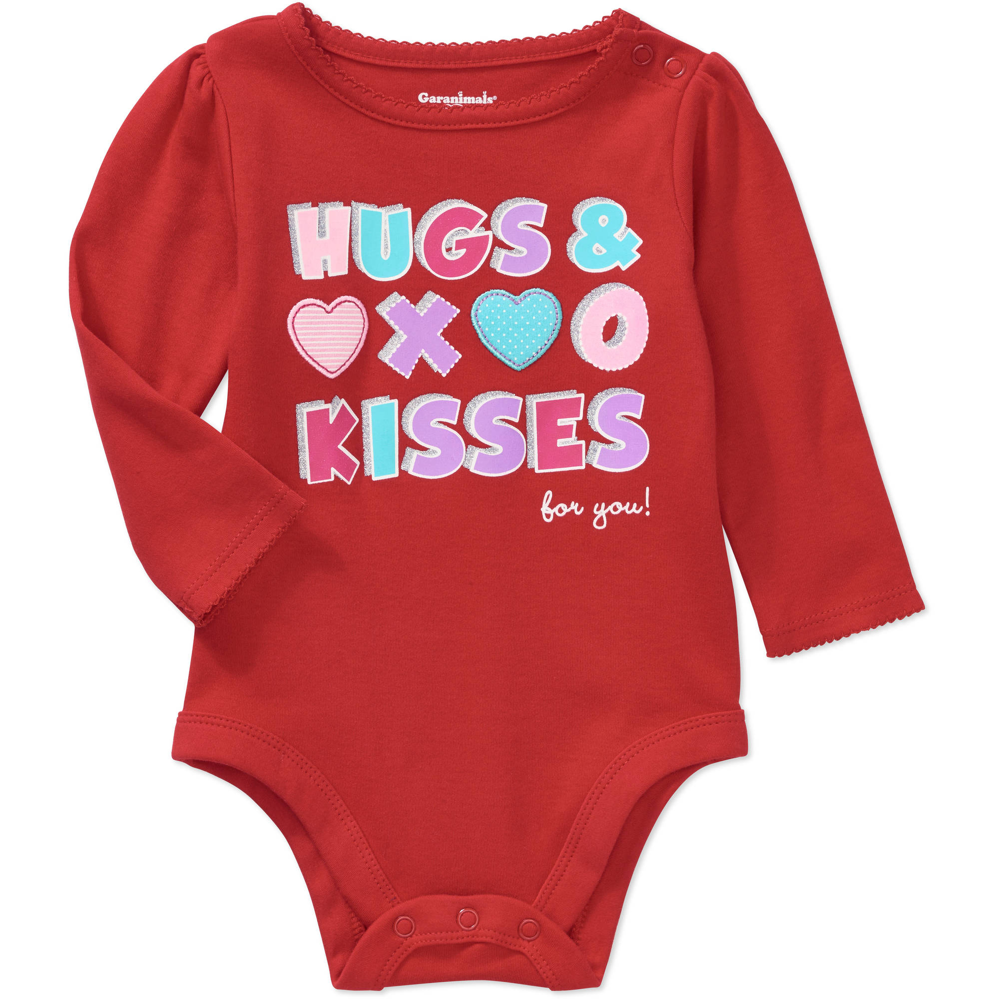 Garanimals Newborn Baby Girl Long Sleeve Graphic Bodysuit