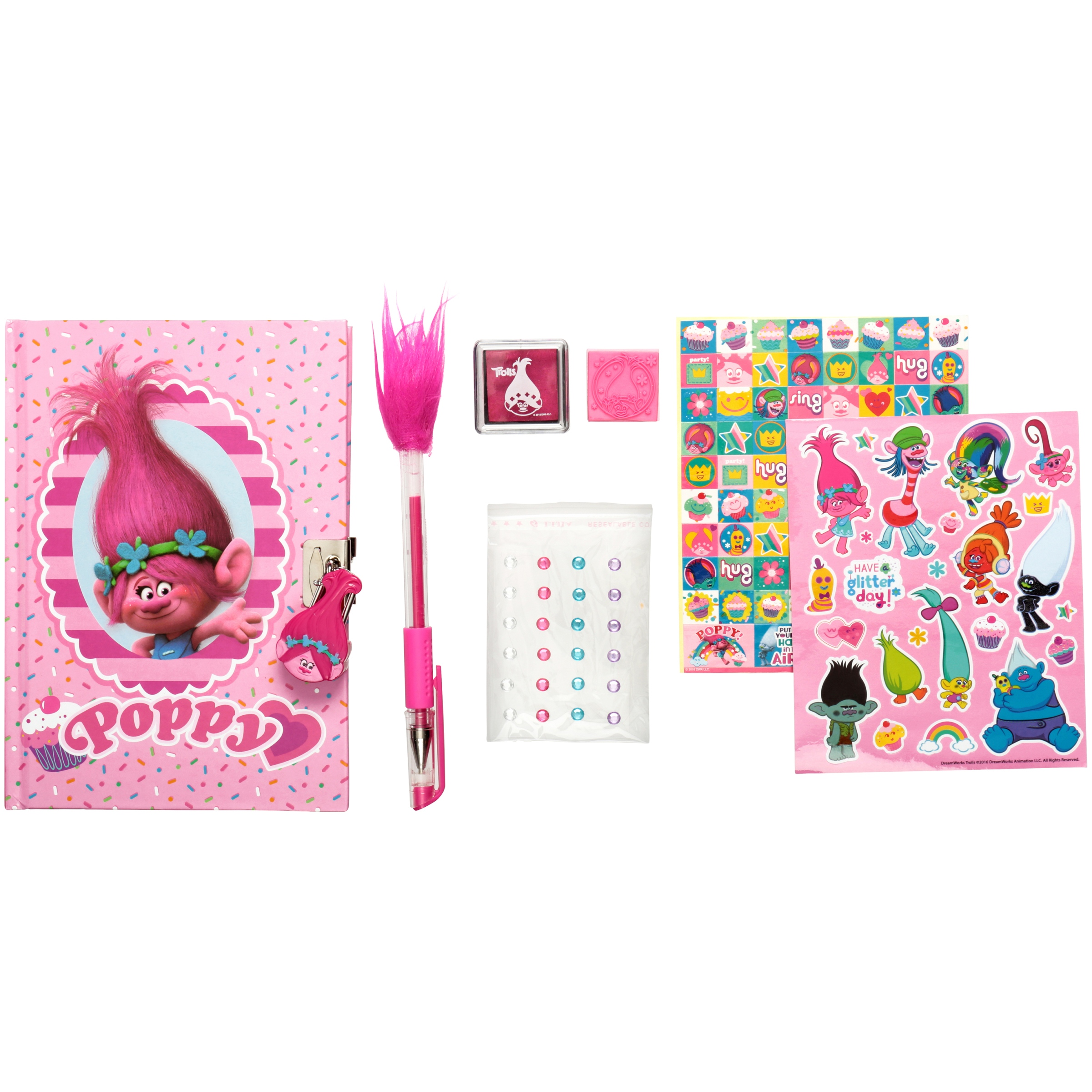 Cra-Z-Art Dreamworks Trolls Lock & Key Secret Diary 6 pc Box by Retail Marketing District Corp.