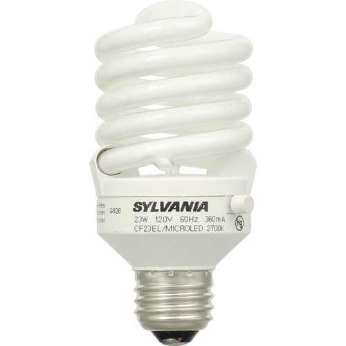 sylvania bright 2 night 23watt cfl light bulb - Sylvania Light Bulbs