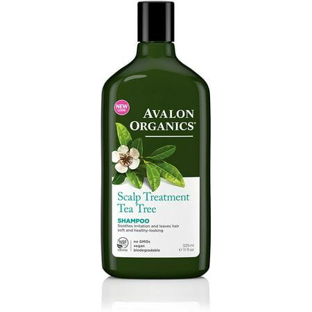 Avalon Organics Scalp Treatment Tea Tree Shampoo 11 oz (Pack of