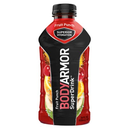 Body Armor Fruit Punch Sports Drink 28 oz Plastic Bottles - Pack of 12