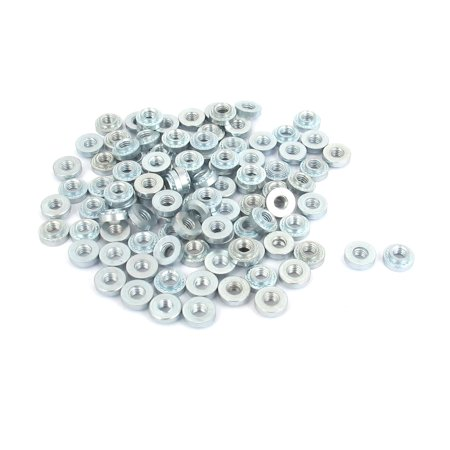 M3 Zinc Plated Self Clinching Rivet Nut Fastener 100pcs for 2mm Thin - Clinching Ring
