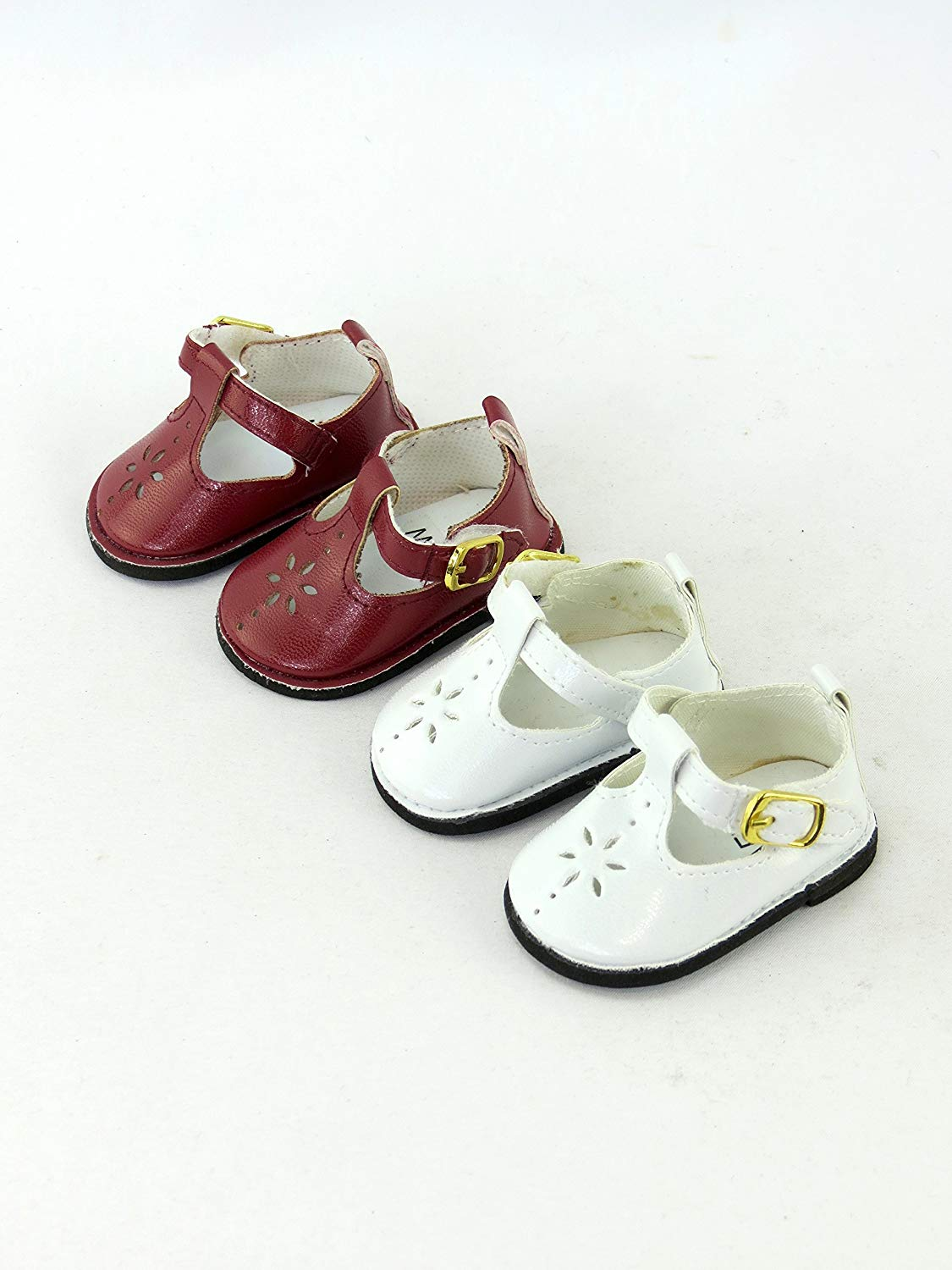 "**SALE** WHITE Canvas MARY JANE Style DOLL SHOES SNEAKERS fits 18/"" AMERICAN GIRL"