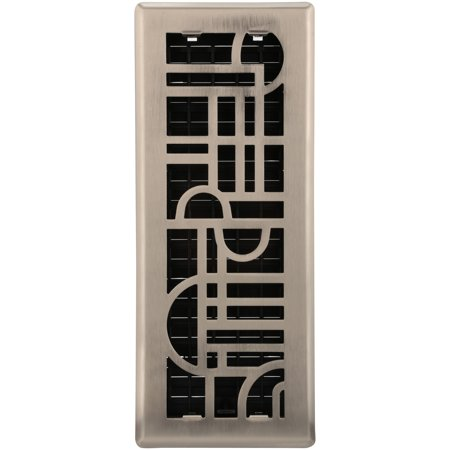 Decor Grates® Art Deco™ Steel Plated Nickel Wall/Ceiling (Decor Grates)
