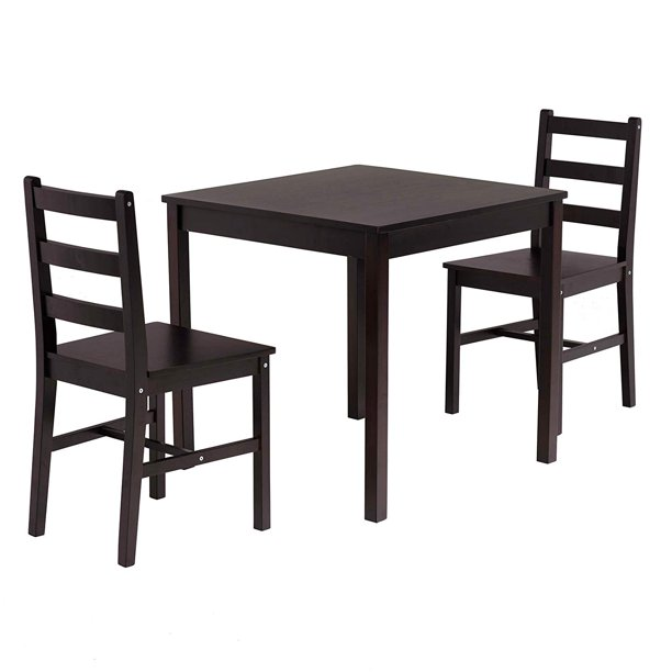 mecor 3 pc dining set wood kitchen table set with 2 chairs