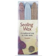 Manuscript Pen 7613GSB Traditional Seal Wax Sticks with Wicks, Gold/Silver/Bronze, 3-Pack Multi-Colored