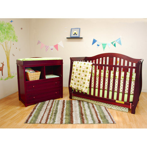 AFG Baby Furniture Athena Desiree Leila Convertible 2 Piece Crib Set