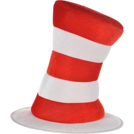 Adult Dr. Seuss Cat in the Hat Top Hat, Halloween Costume, 12 1/2
