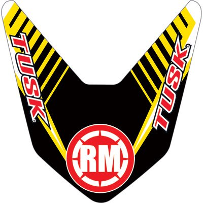 Attack Graphics Turbine Front Fender Decal Yellow for Suzuki RM250 -
