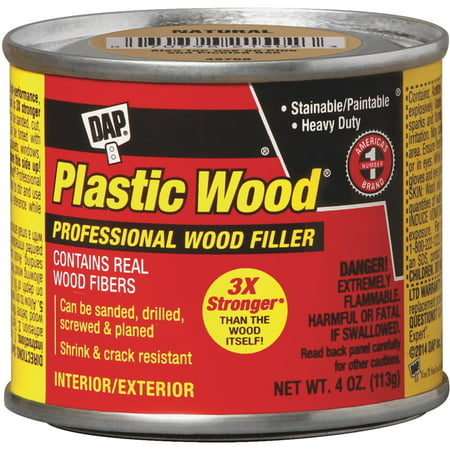 Dap 21434 4 oz. Solvent Wood Filler, Walnut