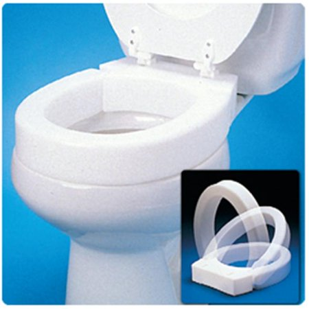 Patterson Medical 407101 Hinged Elevated Toilet Seat