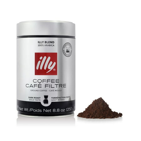 illy Ground Drip Dark Roast Coffee, 8.8 -