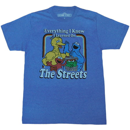Sesame Street Everything I Know Adult T-Shirt - Sesame Street Halloween Safety