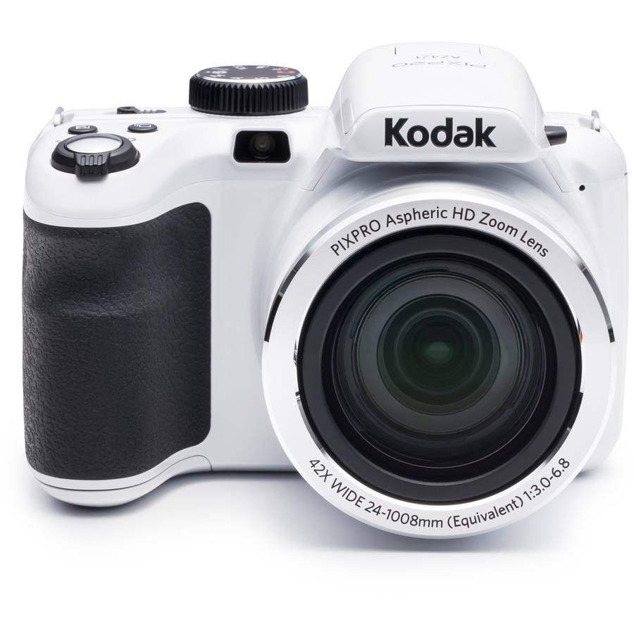 Kodak White PIXPRO Astro Zoom AZ421 Digital Camera with 16 Megapixels and 42x Optical Zoom