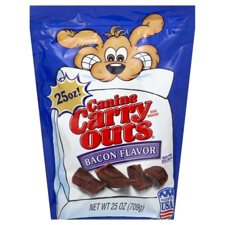 Canine Carry Outs Bacon Flavor Dog Snacks, 25-Ounce (Bacon Flavor)