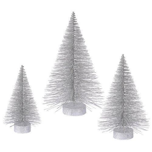 The Holiday Aisle 3 Piece Glitter Fat Christmas Tree Set