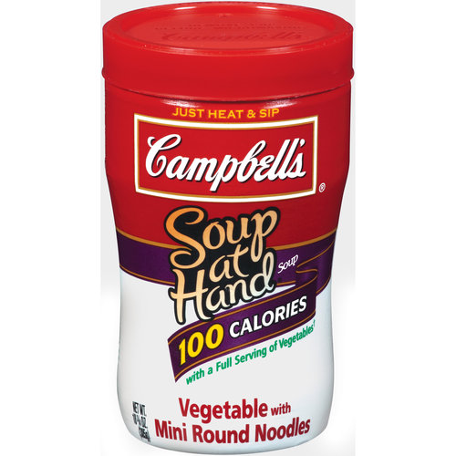 Campbell's Soup At Hand Vegetable with Mini Round Noodles, 10.75 oz