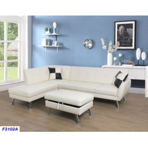 ram-left-facing-sectional-sofa-with-ottoman,white by beverly-fine-furniture