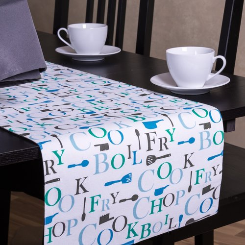 Linen Tablecloth Chef Print Table Runner by Linen Tablecloth