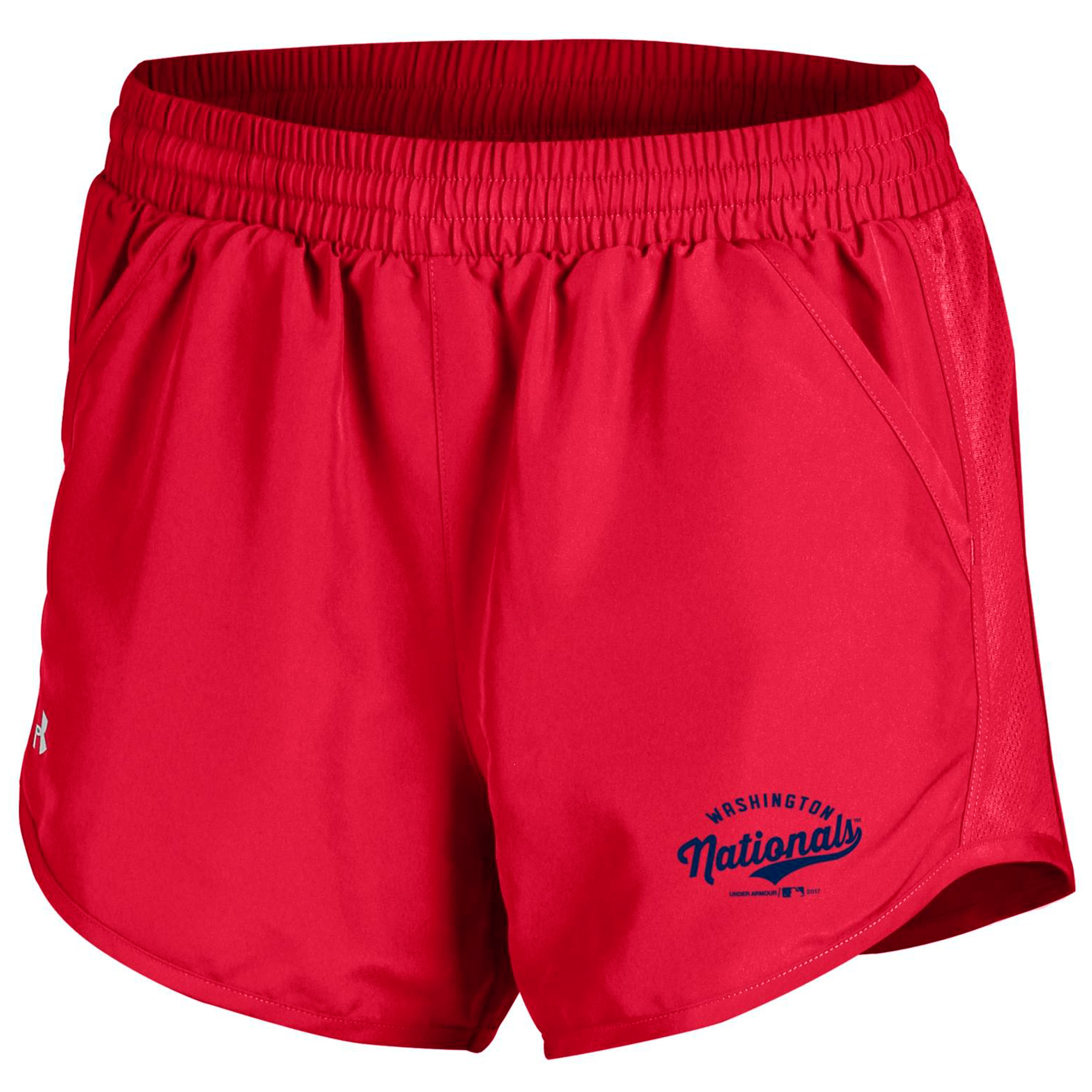 Washington Nationals Under Armour Women's Fly By Performance Running Shorts - Red