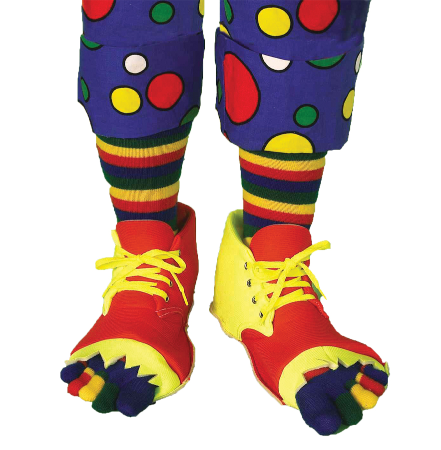Clown Shoes and Toe Sock Set Halloween Accessory