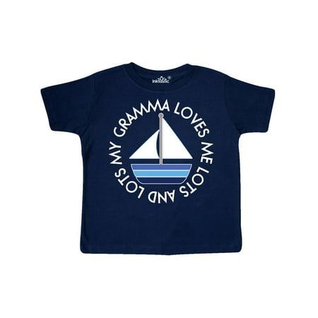 My Gramma Loves Me Sailboat Boys Sailing Toddler T-Shirt