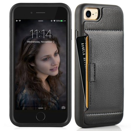 more photos 24a5d 7bd6f iphone 7 wallet case, ZVE iphone 7 Credit Card Holder Slot case for ...