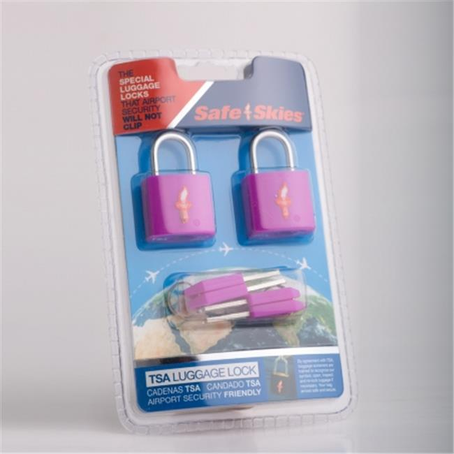 Safe Skies No.  206a TSA-Approved padlocks double-set - Grape Juice