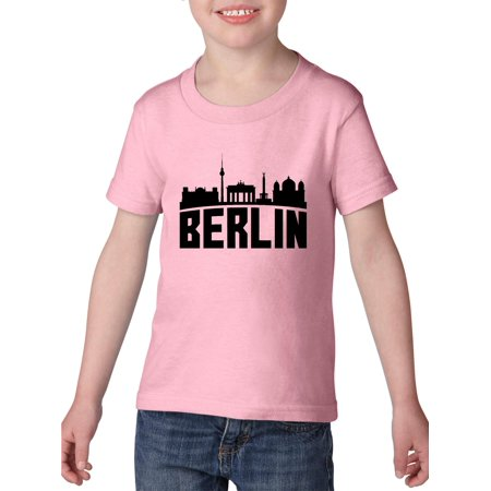 Berlin Germany Toddler Heavy Cotton T-Shirt Kids Tee Clothing