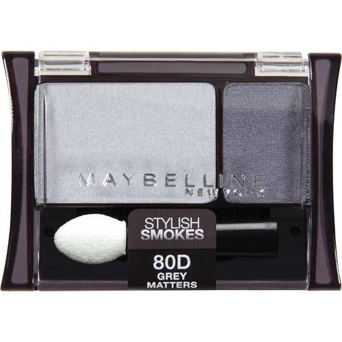 Maybelline Expert Wear Stylish Smokes Eyeshadow Duos, 80D Grey Matters, 0.08 oz