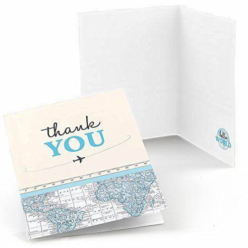 Precious Cargo Blue Baby Shower Thank You Cards 8 Count