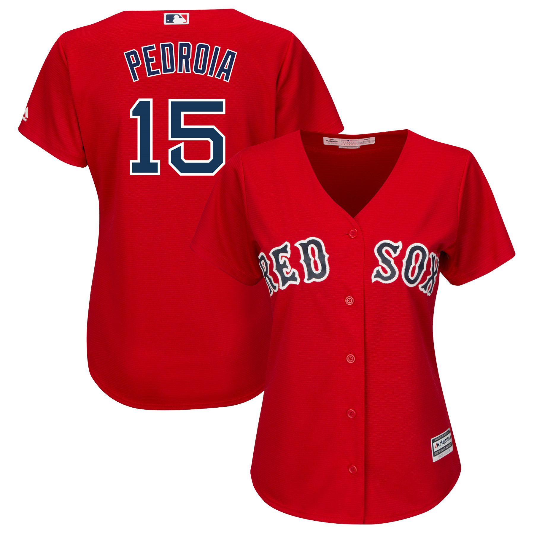 Dustin Pedroia Boston Red Sox Majestic Women's Plus Size Alternate Cool Base Player Jersey - Red