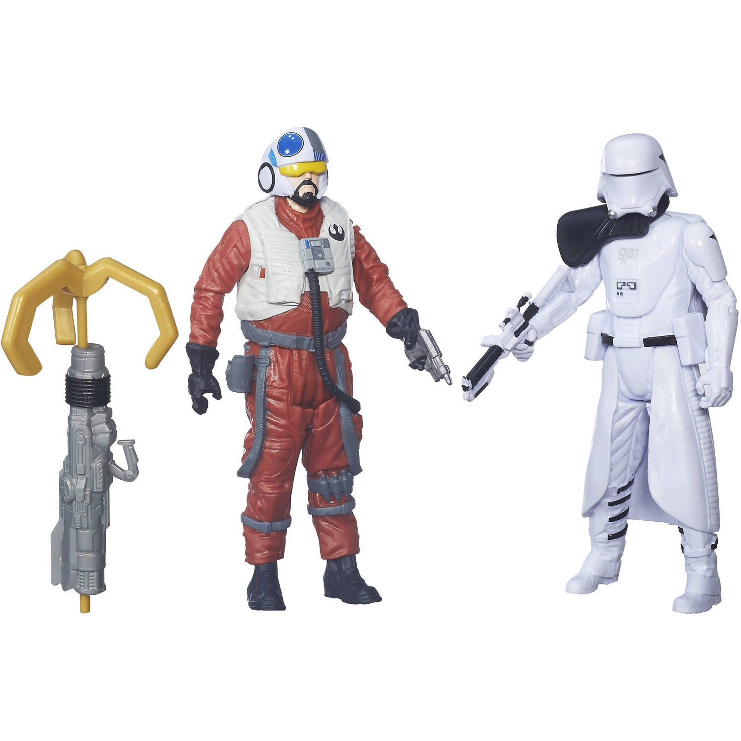 "Star Wars: The Force Awakens 3.75"" 2-Pack Snap Wexley and First Order Snowtrooper Officer"
