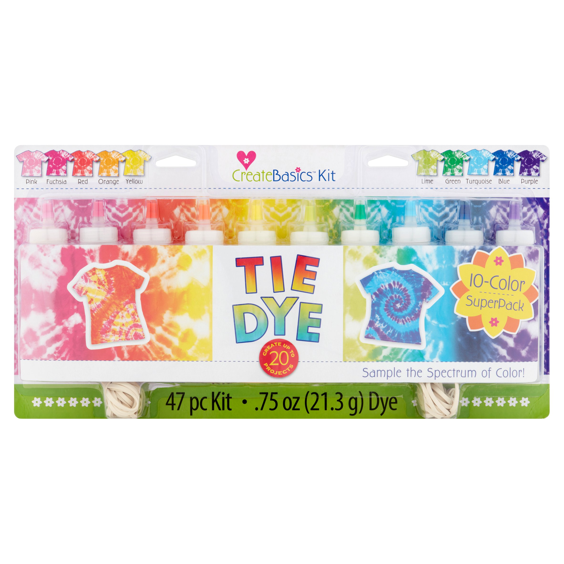 create basics tie dye 47 count 75 oz walmart com
