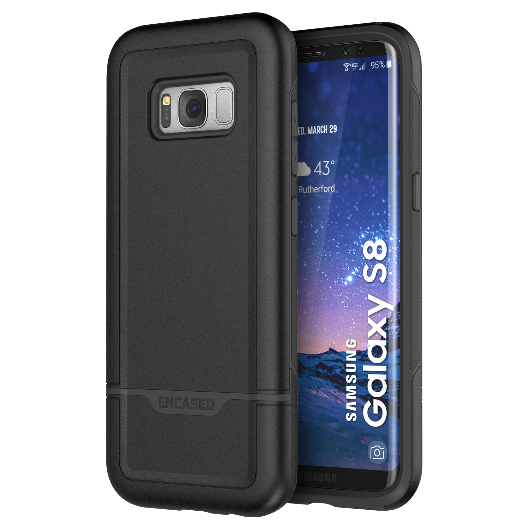 Galaxy S8 Case, Rebel Series Heavy Duty (dual-layer) Impact Armor by Encased
