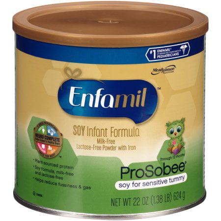 Enfamil ProSobee Soy Infant Formula, Powder, 22 Ounce Can