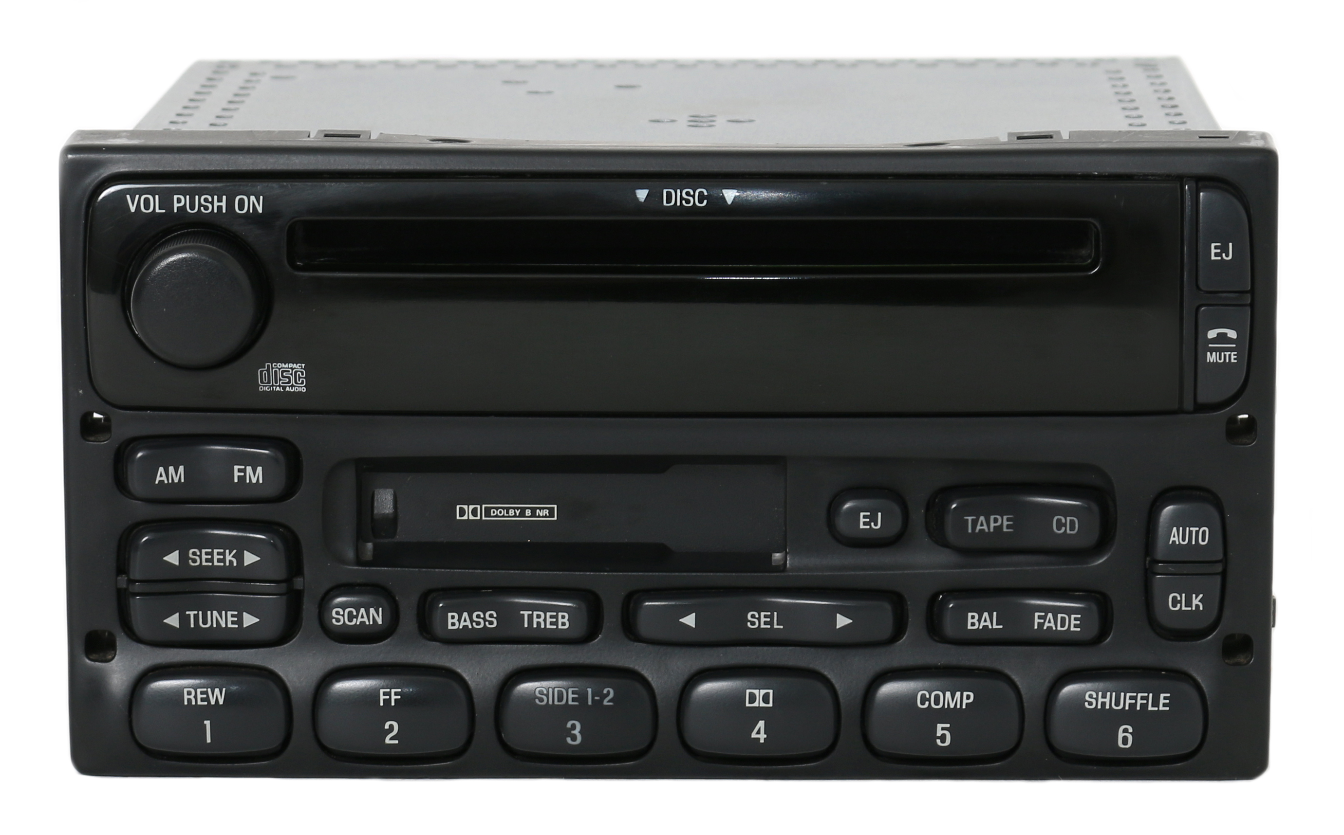 Ford Truck and Van Radio 1999-2010 AM FM Cassette CD Player Part 1F2F-18C868-AA Refurbished by Ford