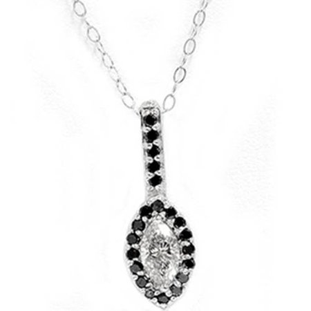 1/2ct Black & White Gold Fancy Marquise Diamond Pendant - image 1 of 1