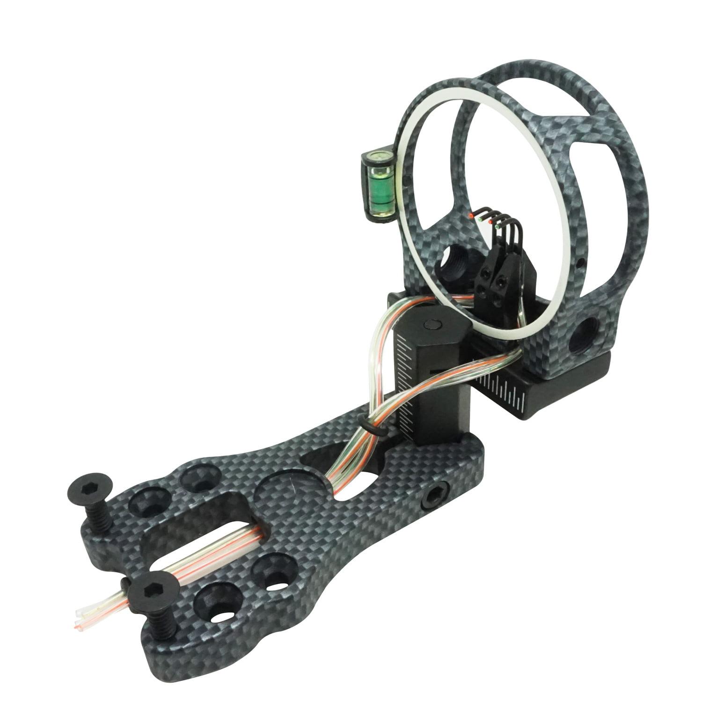 "Safari Choice Archery 4-Pin Fiber Optic 0.019"" Bow Sight, Carbon"
