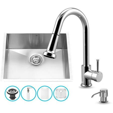 Vigo Vg15344 23 Undermount Kitchen Sink Chrome Faucet Stainless